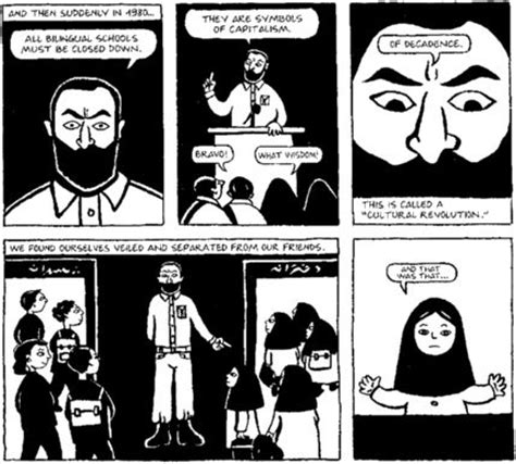 theme of persepolis the veil reading repression