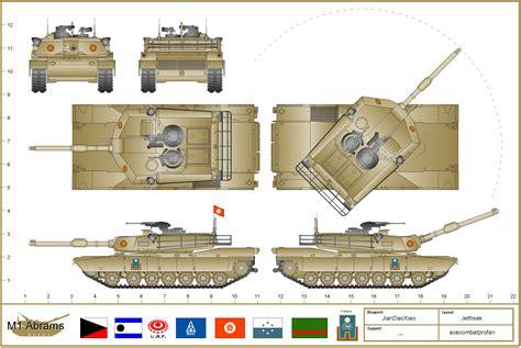 printable paper tank models m1a1 abrams drawing
