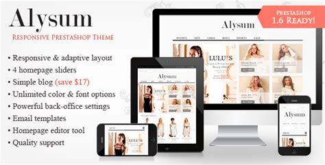 Alysum Premium Responsive Prestashop 1 6 Theme Ecommerce Themeforest Free Prestashop Email Templates