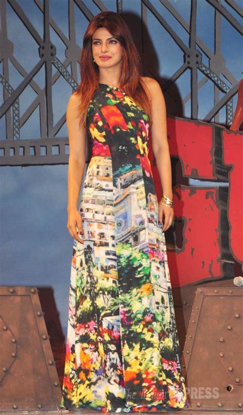 Prianka Maxi priyanka chopra was lovely in a printed maxi dress at the