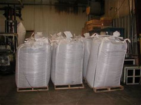 2000 lb super sacks of rubber crumb synthetic turf infill