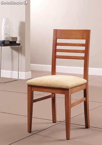 silla madera  asiento tapizado
