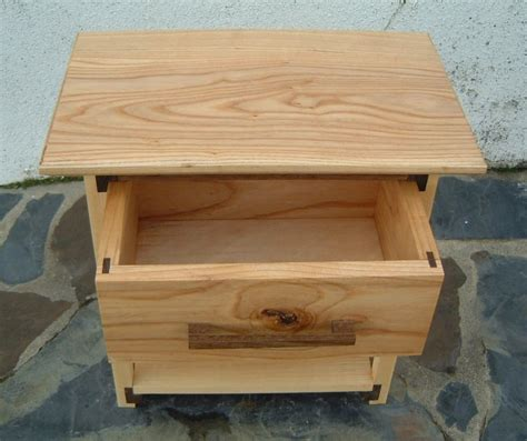 oak woodworking projects small ash oak bedside table with drawer by knickknack