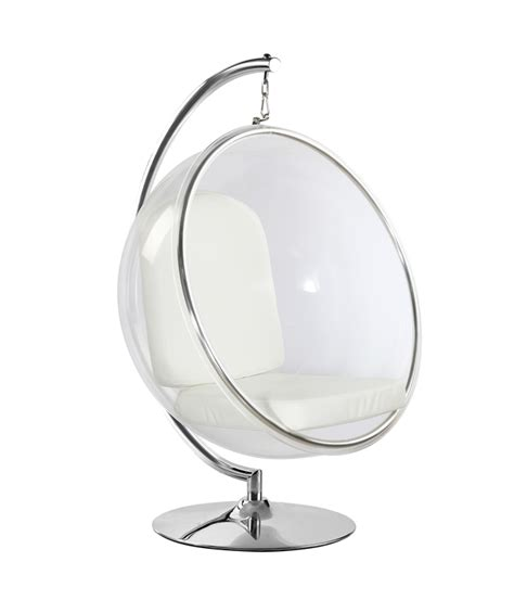 clear hanging egg stuhl eero aarnio style hanging chair white cushion