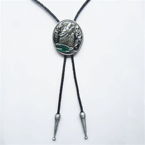 new howling animal wolf cowboy 3 d western bolo tie ebay
