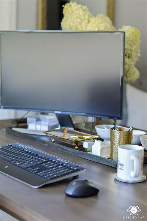 hide cords on desk hide computer cords when your desk is in the center of the