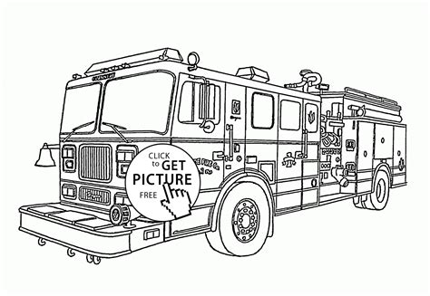 fire engine coloring page for kids transportation