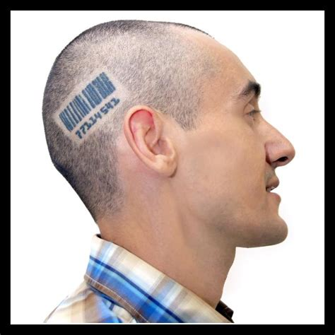 barcode tattoo on head barcode tattoos inspiring tattoos