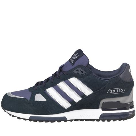 buy adidas originals mens zx 750 trainers new navy white