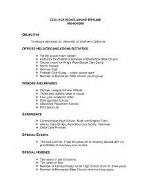 Resume Sle For Scholarship by Template For Soccer Resume Bestsellerbookdb