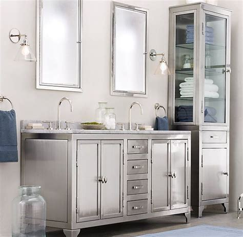 bathroom vanity hardware ideas 1930s laboratory stainless steel double vanity sink from