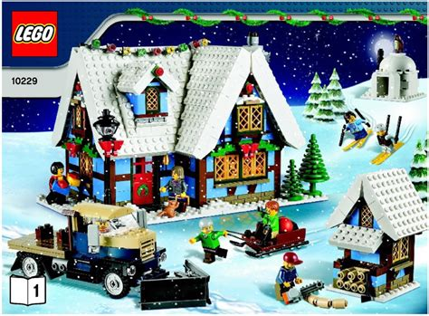 lego winter village cottage instructions 10229 seasonal