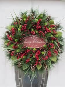 items similar to christmas door wreath holiday wreath
