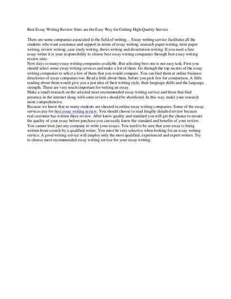 Quality Essay by High Quality Essays