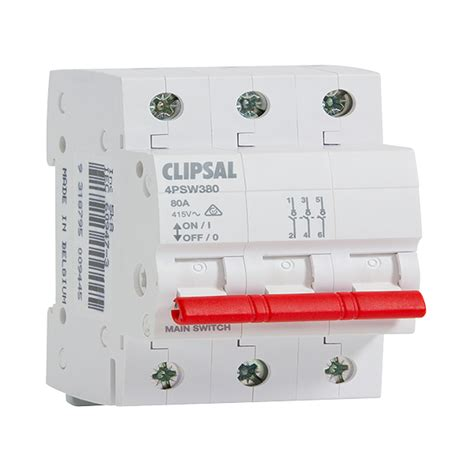 Isolator Switch Clipsal clipsal 4psw3100 isolator switch 3 pole 3 module 100 a