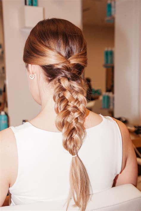 Wedding Hair Braid Bun by How To Do A Braid Bun Wedding Hair Coveteur