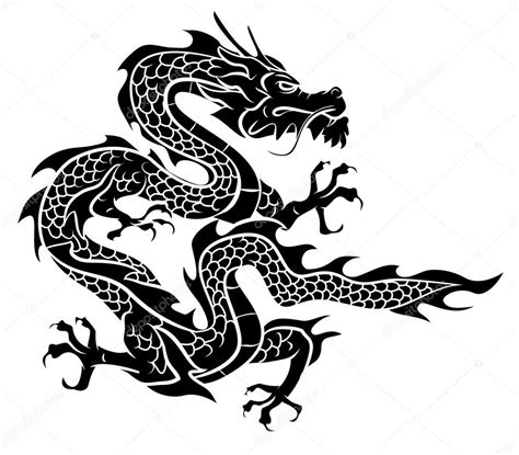 dragon vector illustration stock vector