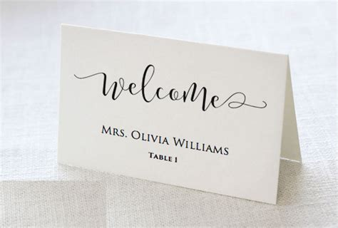wedding place cards template for pages wedding place card template place card word template