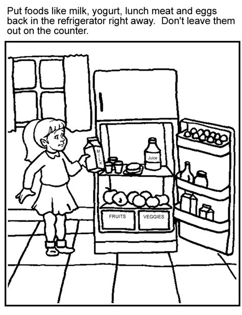 coloring pages for food safety coloring page perishables partnership for food safety