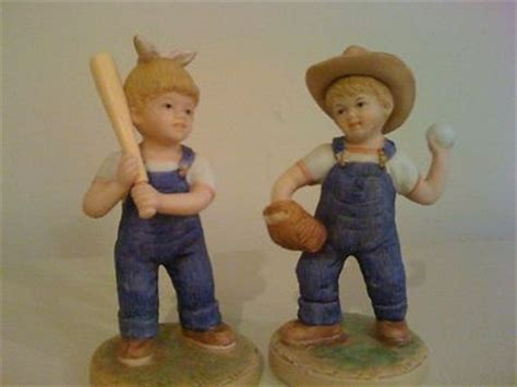 home interior denim days home interior denim days quot let s play ball quot figurine with