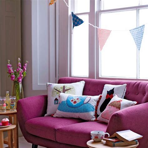 Quirky living room   10 Bunting Ideas   housetohome.co.uk
