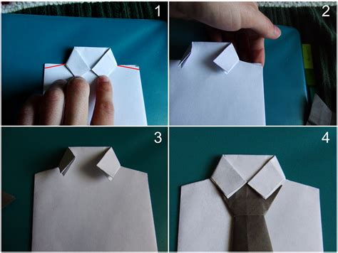 simply create shirt and tie origami