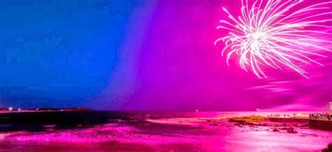 background banner hd beach fireworks pink hd wallpaper banner hd wallpaper