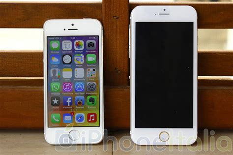 Iphone 6 Di Zalora iphone 6 mockup vs iphone 5s il confronto di iphoneitalia immagini e iphone italia