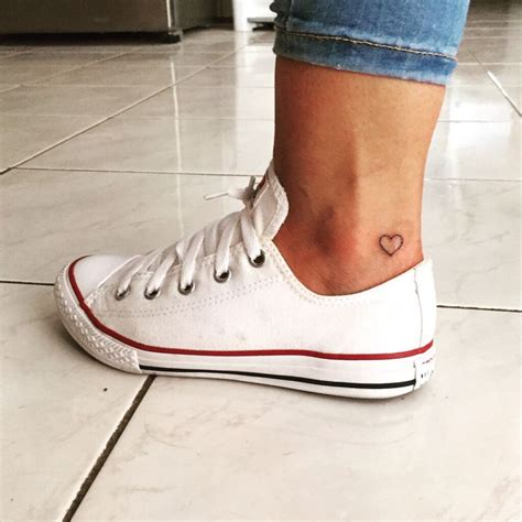 small heart tattoo on ankle best 25 small ankle tattoos ideas on