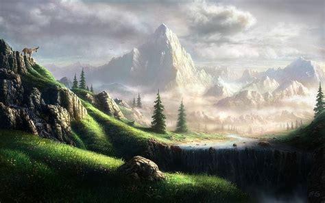 landscapers paradise paradise for goat airbrushing artwork wallpaper 19