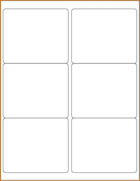 free template for blank business cards in word business
