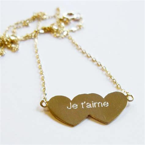 necklace hearts je t aime 14k gold atelier atsuyo et