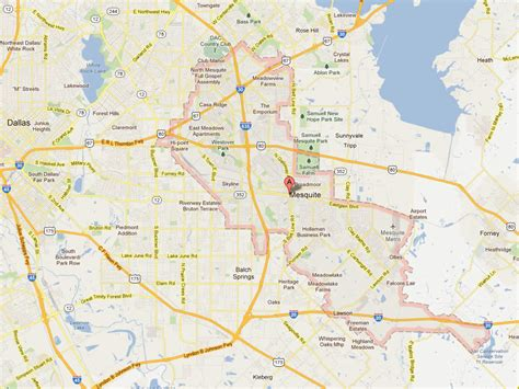 map of mesquite tx mesquite map