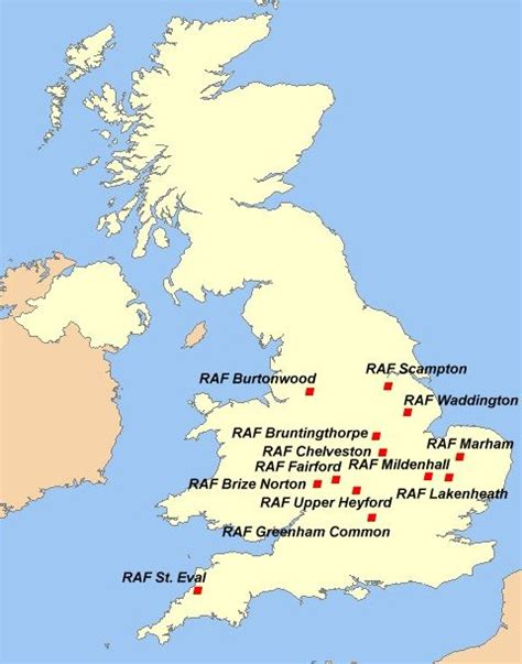 map us bases 2 strategic air command in the united kingdom