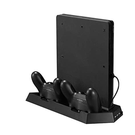 Charging Stand Cooling Fan Ps4 Slim 4 In 1 younik ps4 slim vertical stand cooling fan with dualshock controller charging station and usb