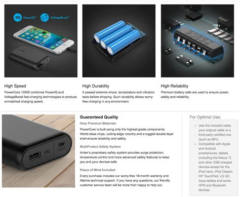 anker universal battery charger anker portable charger 10000mah power bank external