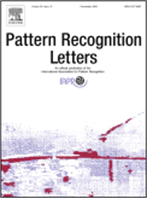 pattern recognition letters pattern recognition letters