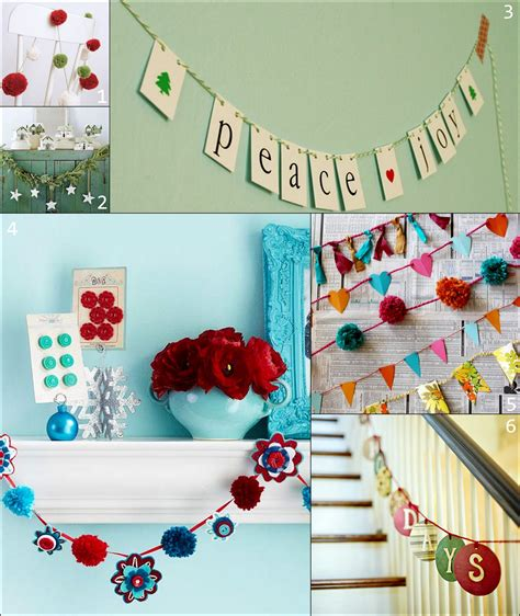 Paper Decorations To Make At Home - paper and fabric garland ideas for the holidays