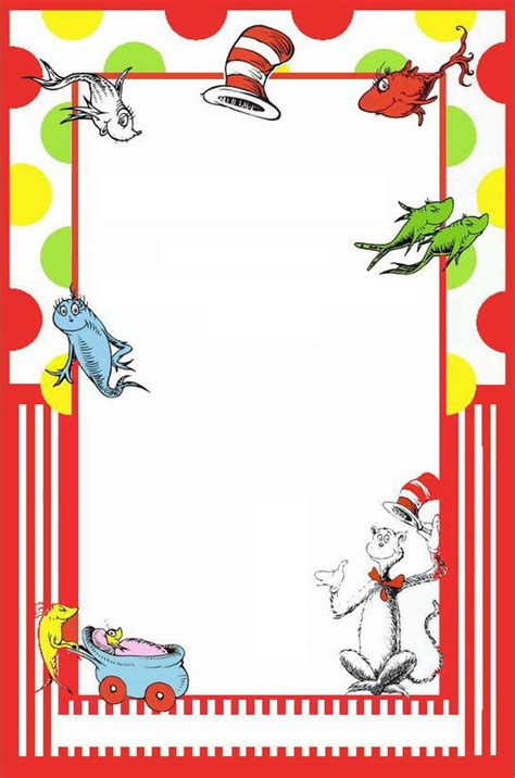 dr seuss post card templates dr seuss free printable invitation templates