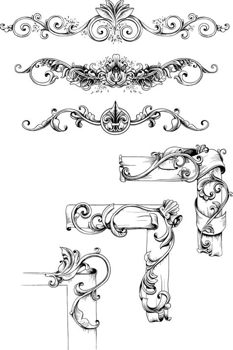 vintage design elements vector set 23 vintage decorative elements set vector free download