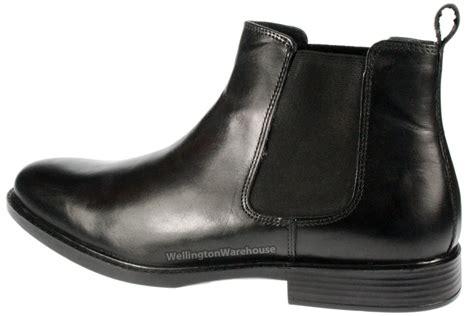 soft leather boots mens black mens gel soft lightweight leather chelsea