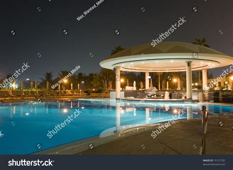 Nobody Into The Pool At Bartles Poolside Bbq by Bbq Cafe By Pool Stock Photo 15121702