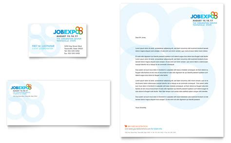 job expo amp career fair business card amp letterhead template