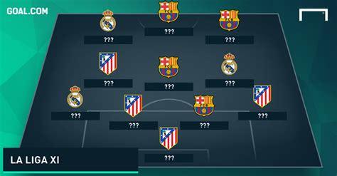 la liga top table la liga tots goal com