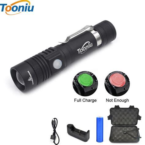Senter Mini Led 2000 Lumen Charging Pake Usb tooniu ultra bright cree xm l t6 usb led flashlight 3 modes 2000 lumens zoomable led torch 18650