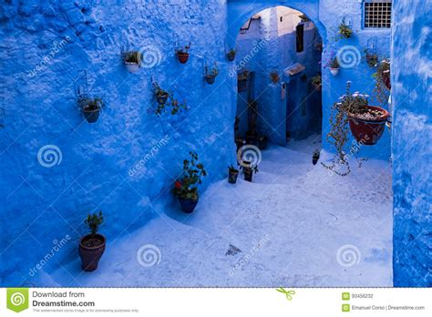 blue city in morocco chefchaouen the blue city of morocco stock photo image