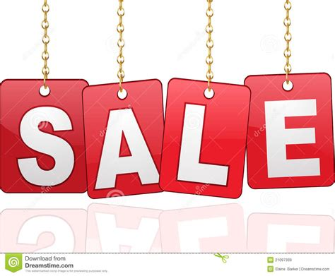 Gift Card Sles - sale cards hanging from chains royalty free stock images image 21097339