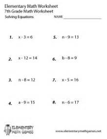 seventh grade math worksheets