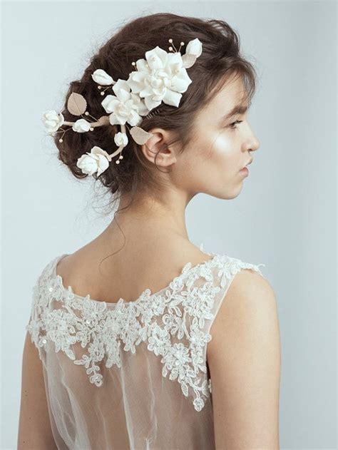 handmade wedding hairpiece flower comb bridal