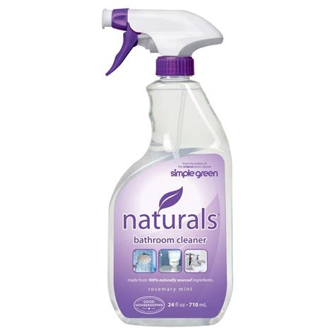 simple green bathroom cleaner simple green 24 oz naturals bathroom cleaner
